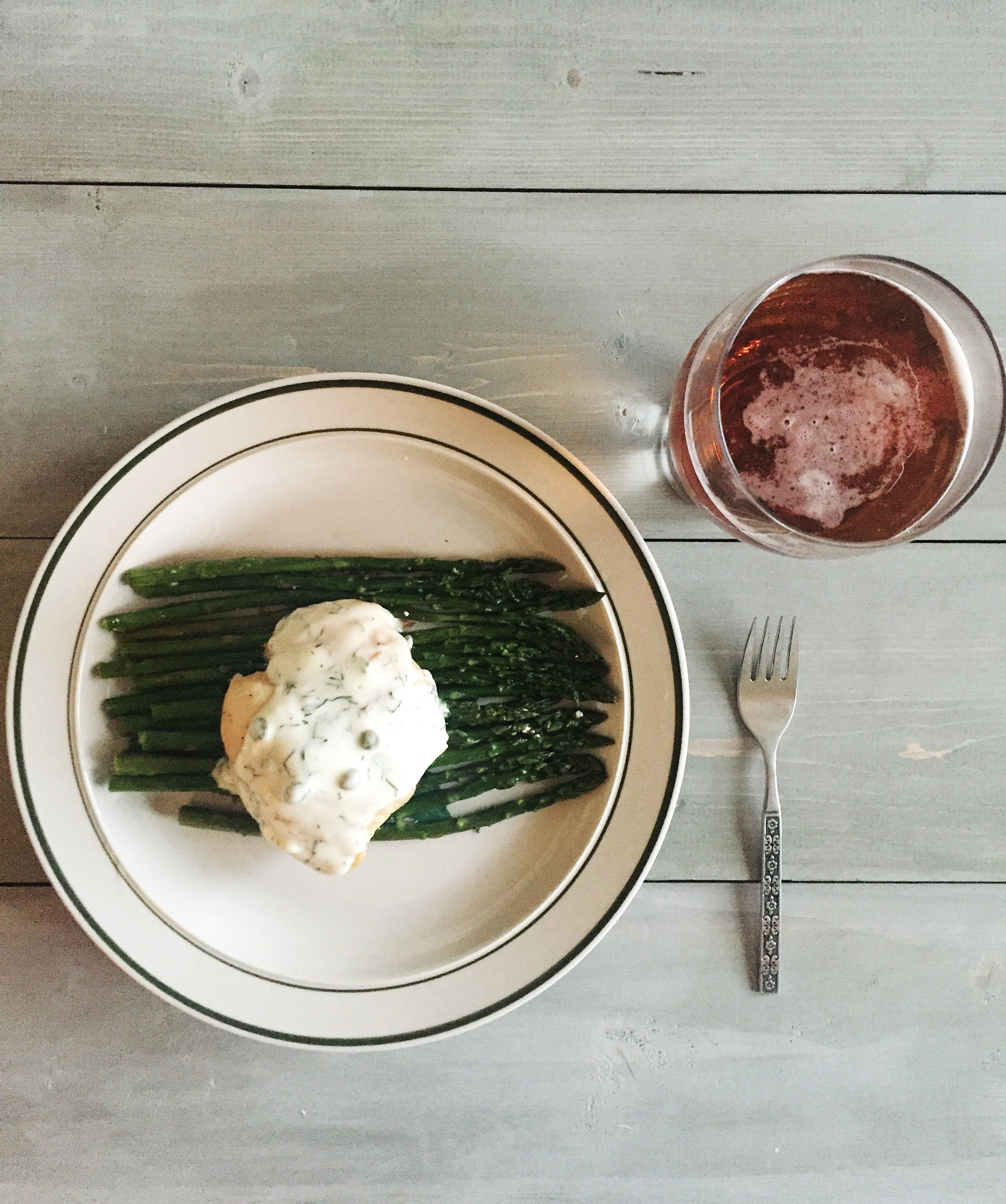 Dinner for Two: Chicken Breast with Roasted Asparagus || Town Lifestyle + Design || Great dinner recipe for any date night or special holiday. Quick and Easy for any family dinner night too.
