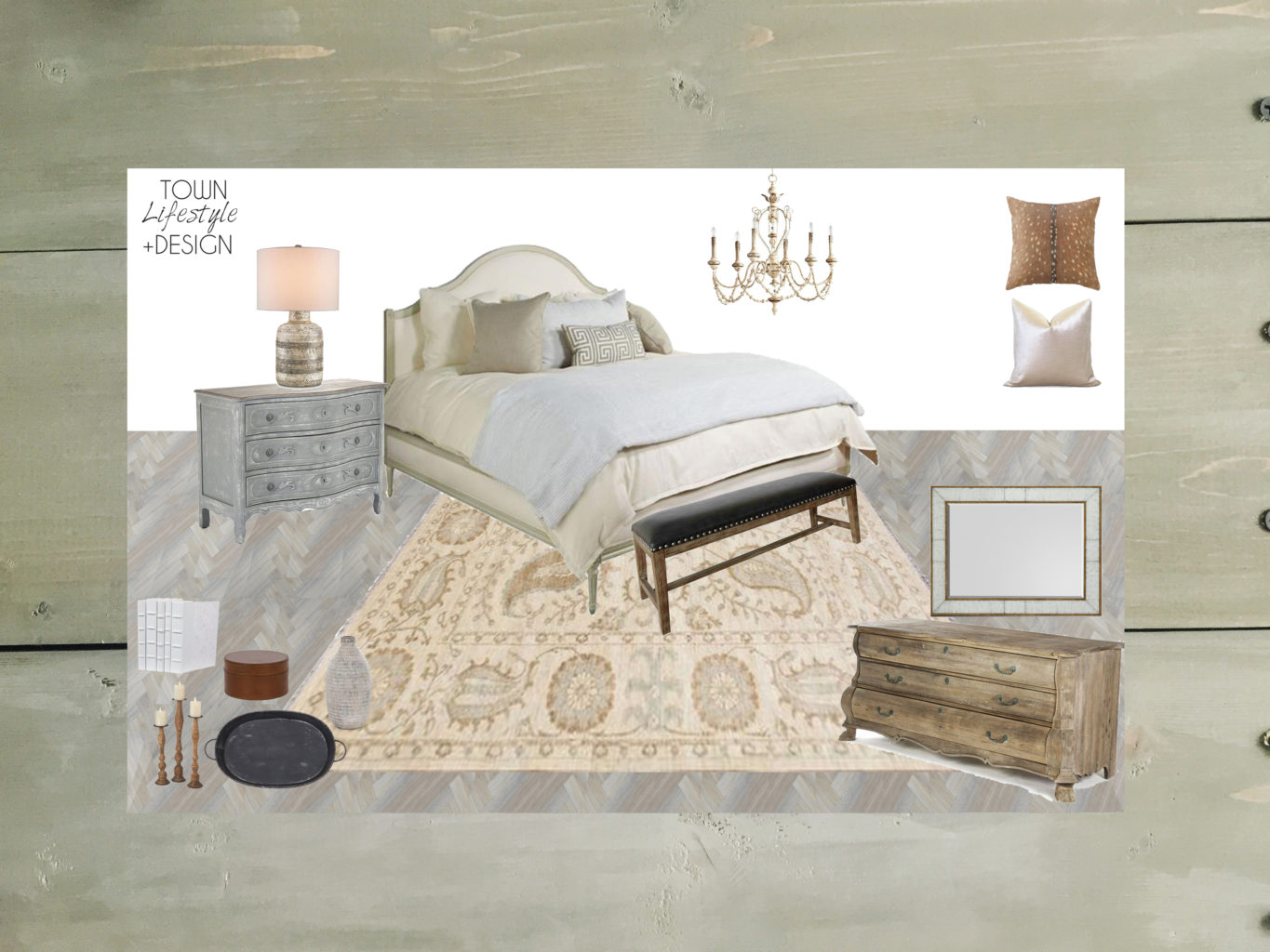 Get This Look: #projectrusticchic || Town Lifestyle + Design || Get the look of this rustic master bedroom designed for an e-design interiors project