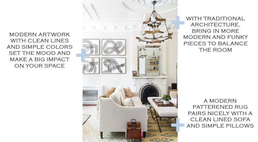 Market Mondays No. 5 - Living Room || Town Lifestyle + Design || Looking for a fresh new look for your living room or family room? Trying to blend both your traditional and modern styles? Check out this beautiful design, why it works and where to get a similar look.