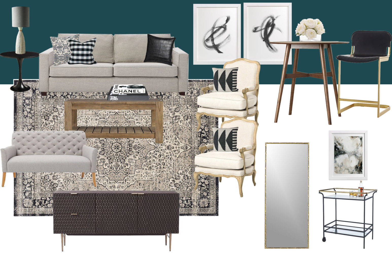 New Orleans Living Room Concept || Town Lifestyle + Design